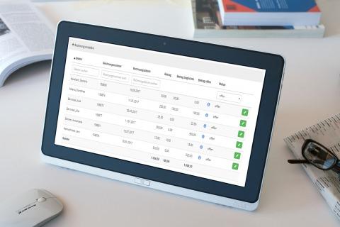 Das Rechnungs- und Fakturierungsmodul der all4schools-Schulverwaltungssoftware