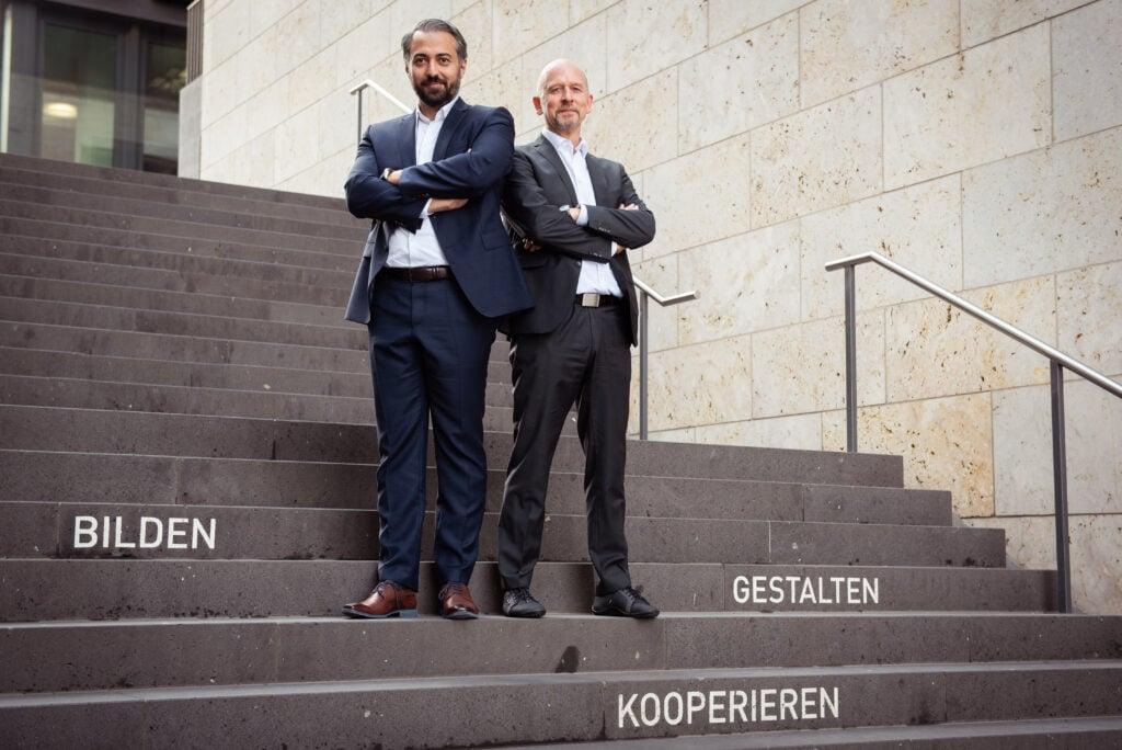 The two founder of all4education, Alois Ignaz Krähenmann and Ufuk Yildiz