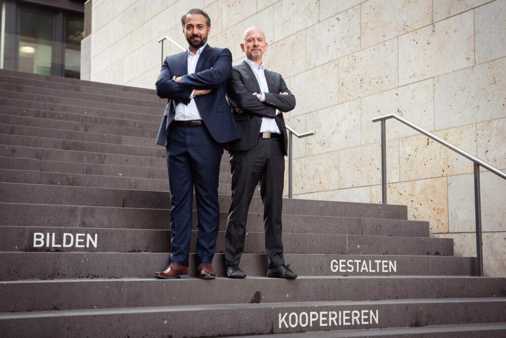 Die beiden Gründer von all4education, Alois Ignaz Krähenmann und Ufuk Yildiz